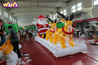 2015 New design christmas decoration outdoor santa in sleigh