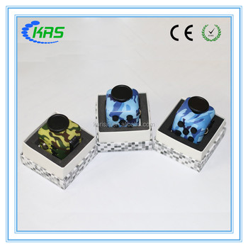 Hot sale 6 sides anti stress cube fidget cube camo for human