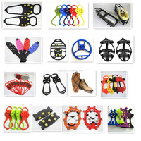 Wholesale universal safty slip on ice grips over the shoe ice grippers over shoe studded snow grips anti slip snow shoe cleats