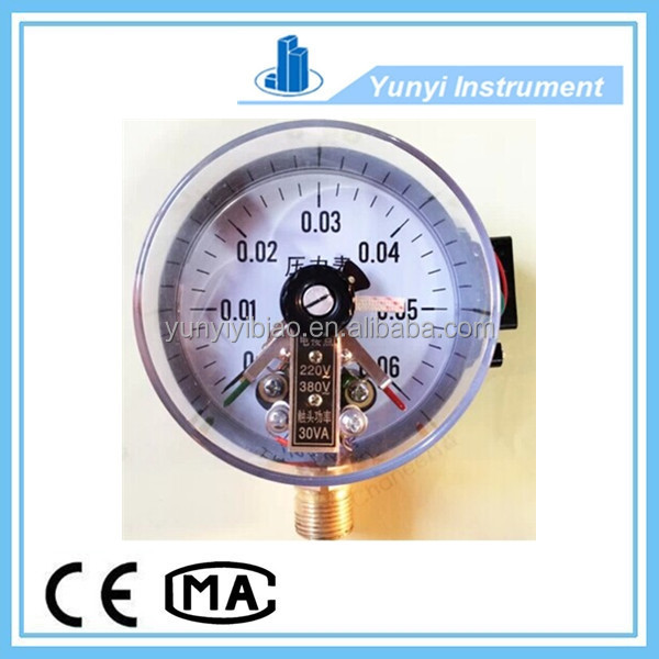 Vacuum magnetic electric contact pressure gauge