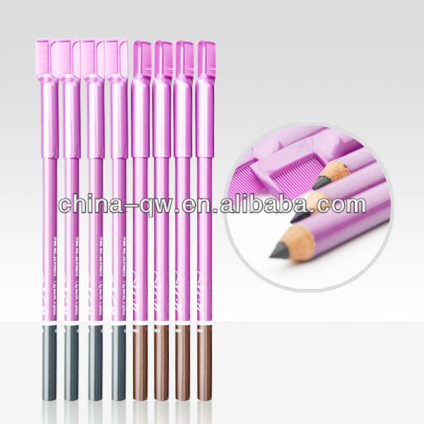 Menow P09013 box packing black/brown/hazel color eyebrow pencil with comb&brusher