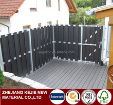 Home Privacy Decorative Designs Wood Plastic Composite WPC Fence Board Yard Garden Fence Panels