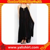 Wholesale cheap comfortable lightweight double strap plain 100%cotton long design women beach dress