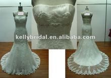 beautiful mermaid lace off shoulder wedding dress bridal gown