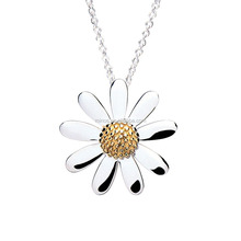 18k Gold Plated 316l Stainless Steel Retro Series 20mm Common Daisy Necklace,Latest Design Pendant Necklace For Gift