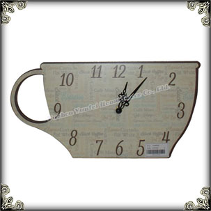Home decoration retro cup shaped wall clock for sale