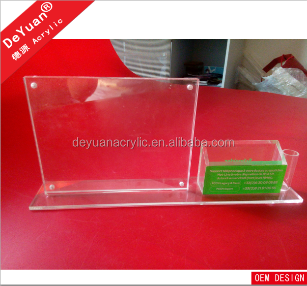T shape sandwich acrylic sign holder