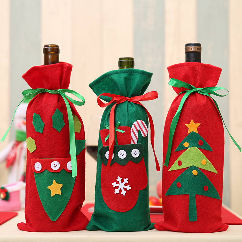 Hot Selling Christmas Decor Bottle Cover Indoor Wine Cover Xmas Decoration