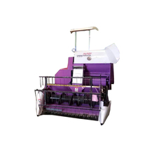 Agriculture machine mini paddy combine rice wheat harvester