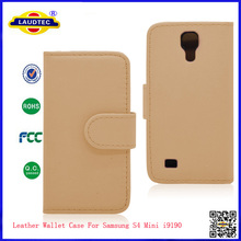 2014 Leather Wallet Case For Samsung S4 Mini i9190 - Laudtec