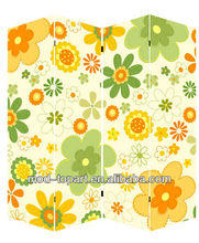 Promotional stretched canvas room dividers, canvas screen,four-leaf screen for room decor