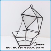 Modern trapazoid hexagon geometric glass ring jewelry box
