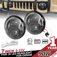 7 Inch 90w LED Headlight for Jeep Wrangler JK 07 up and Automobile Sealed Beam