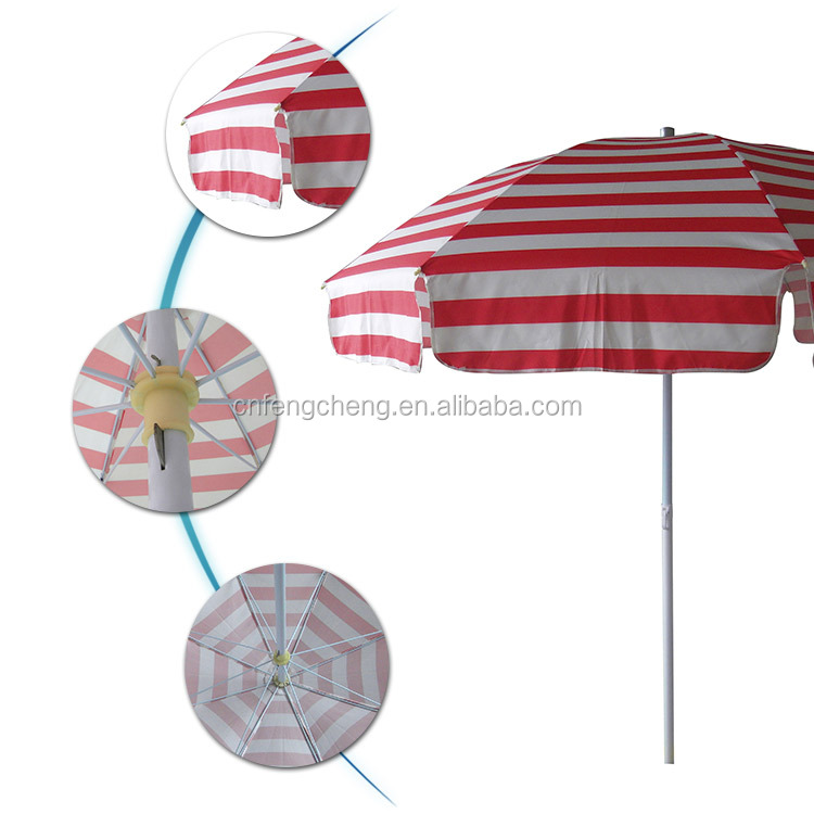stripe polyester fabric hawaii style leisure outdoor beach umbrella