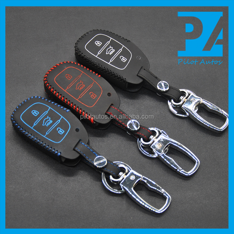Facttory Wholesale Colorful Cataloge All Model Leather Car Keys Cover Case With Logo Or Without Logo NO logo