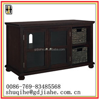 44 inch Middle East portable LCD TV stand with glass doors for sale