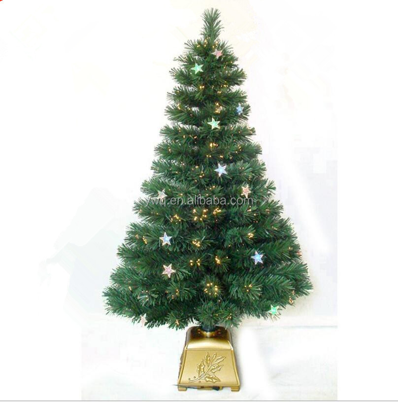 5ft new fiber optical tree with golden base