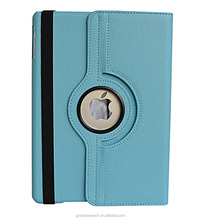For iPad Air Premium PU Leather Multi-Function Stand Cover 360 degree Rotation case For iPad Air
