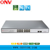 18-Port Gigabit PoE Switch with 16 Gigabit PoE Ports and 2 Gigabit Fiber Ports PoE Switch for Home Video Camera System