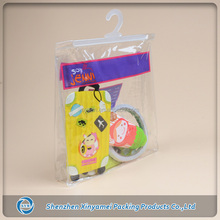 large clear pvc plastic bag hanger with snap button closure