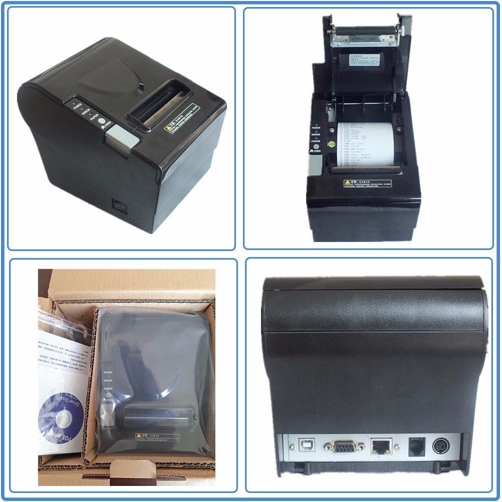 POS system 80 mm thermal printer with auto cutter for phone and computer