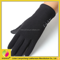 Motorcycle Women Driving Gloves New Design wool and cashmere knitting glove