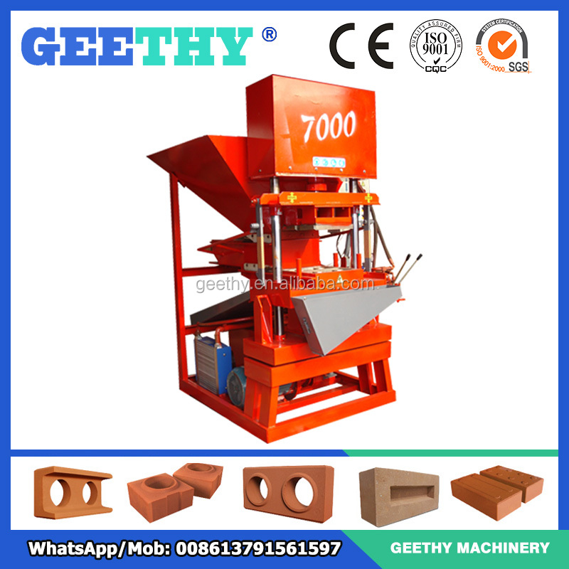 interlocking building bricks Eco master 7000 hollow block machine in philippines price list