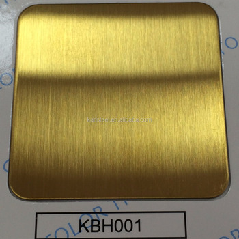High Quality 304 Stainless Steel Color KBH001 Hairline Sheet