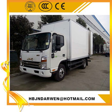 5M length container load 7T JAC dry cargo box van truck for sale