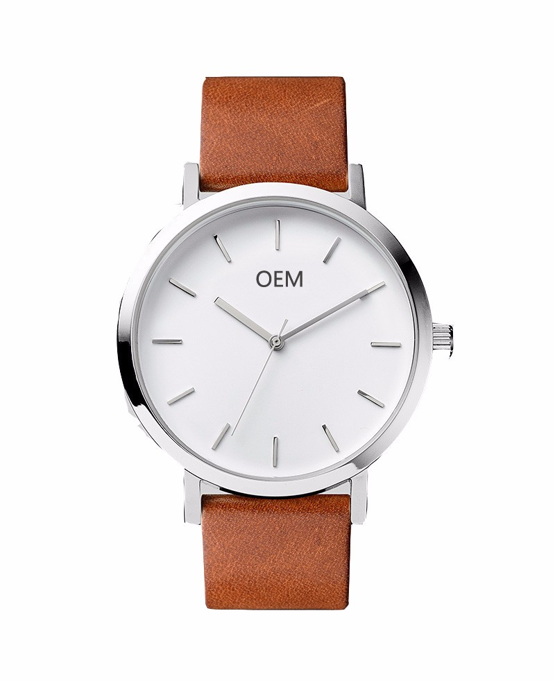 Supply British stylish leather strap classic quartz watch for simple living people