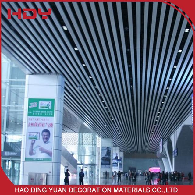 Popular Decorative Aluminum Slat Baffle Ceiling Panels For Airport