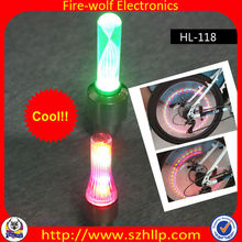Bike Cycling Motorcycle Car Valve Cap Tire Tyre Spoke Wheel Rim LED Neon Light