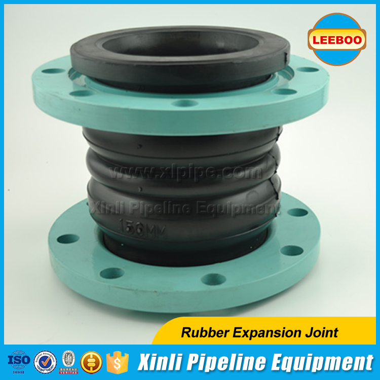 High pressure resistant double sphere EPDM rubber expansion joint bellows
