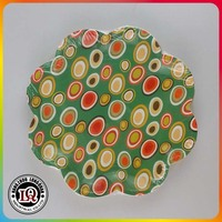 7''Custom Logo Disposable Flower Shaped Paper Plates