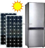 139L Integrated Solar Double-door Upright Refrigerator with built-in Lithium battery