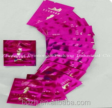customized laminated printed plastic liquid shampoo packing sachet