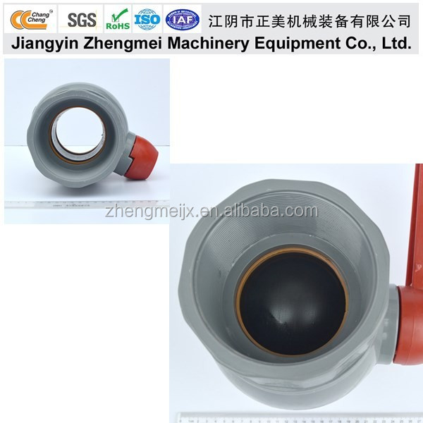 ChangCheng wholesale high quality PVC Grey Water Ball Valve /Pipe Fitting