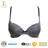 BEJ003-B comfortable ladies padded push up bra for women underwear lingerie