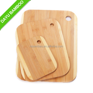 High Quality 3 Piece Bamboo Cutting Board Set with holder
