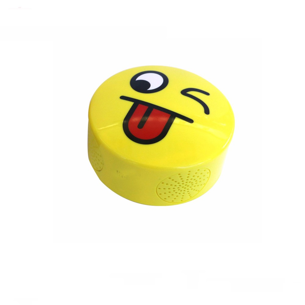 promotional gift mini smile face wireless bluetooth speaker