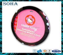 lovely kids or girls cartoon hello kitty steering wheel covers for cars