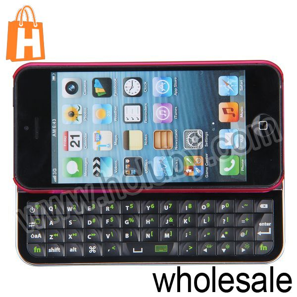 For iPhone 5 Detachable Magnetic Wireless Bluetooth Keyboard,Ultrathin Cover Case for iPhone 5