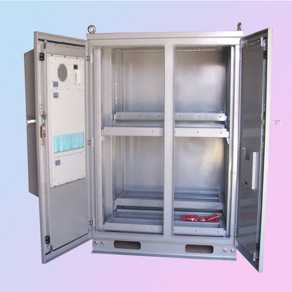 IP55 waterproof outdoor telecom battery cabinet with heat exchanger