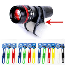 YOUME New Hot Sale Silicone Bicycle Flashlight Tie Strap Portable Phone Torch Light Holder Cycling Accessories