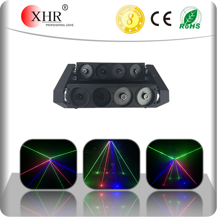 Full Color High Power RGB 8 eyes Moving Head Spider DMX 512 Beam Moving Laser