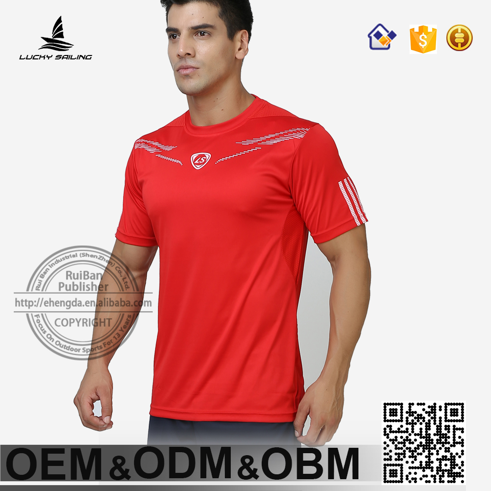 2016 sport dri fit shirt Men's short sleeve original sportswear netball jersey
