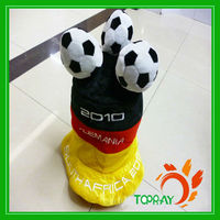 Velour German Fans Carnival World Cup Hat With 2 Football