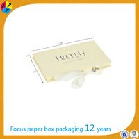 Ribbon Closure Platform Gift Card Box