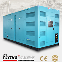 1375KVA taizhou flying dragon electric generator 1100kw by CCEC Cummins k50 engine