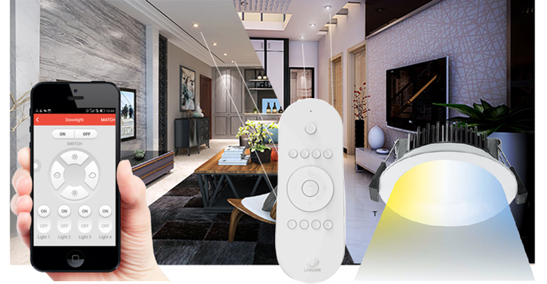 Smart zigbee Mobile Phone APP control Multi color smd led downlight